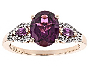 Grape Color Garnet 10k Rose Gold Ring 2.17ctw