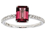 Grape Color Garnet 10k White Gold Ring 2.09ctw