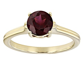 Grape Color Garnet 10k Gold Solitaire Ring 1.39ct