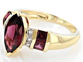 Grape Color Garnet 10k Yellow Gold Ring 2.52ctw