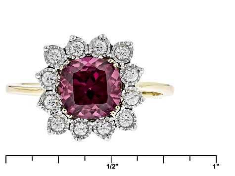 Grape Color Garnet 10k Yellow Gold Ring 2.28ctw