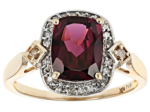Grape Color Garnet 10k Gold Ring 2.36ctw