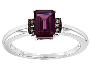 Grape Color Garnet 10K white gold Ring 1.05ctw