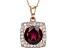 Grape Color Garnet 10k Rose Gold Pendant With Chain 2.37ctw