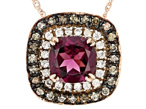 Grape color garnet pendant with chain 1.29ctw