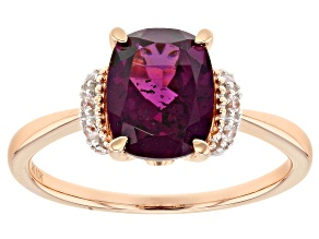 Grape Color Garnet 10k rose gold ring 2.39ctw