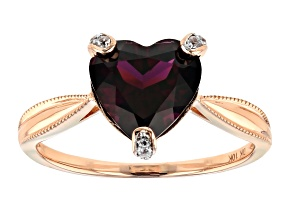 Grape Color Garnet 10k Rose Gold Ring 2.94ctw