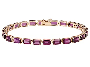 Grape Color Garnet 10k rose gold bracelet 14.28ctw.
