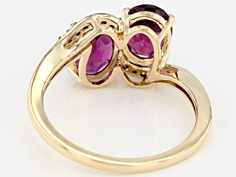 Grape Color Garnet 10k Yellow Gold 2.61ctw