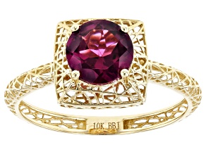 Purple Garnet 10k Yellow Gold Filigree Ring 1.31ct