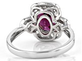 Grape Color Garnet Rhodium Over 10k White Gold Ring 2.47ctw