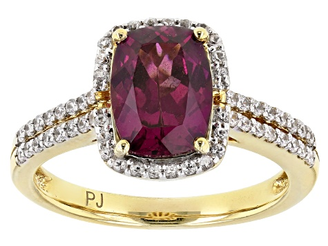 Grape Color Garnet 10k Yellow Gold Ring 2.63ctw