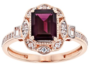 Purple Garnet 10k Rose Gold Ring 2.05ctw