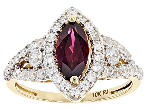 Purple Garnet 10k Yellow Gold Ring 2.11ctw