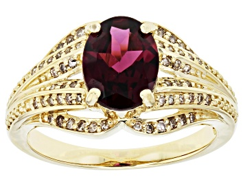 Picture of Grape Color Garnet 10k Yellow Gold Ring 1.80ctw