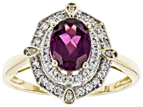 Grape Color Garnet 10k Yellow Gold Ring 1.84ctw