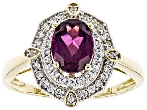 Grape Color Garnet 10k Yellow Gold Ring 1.84ctw