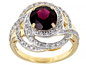 Purple Garnet 10k Yellow Gold Ring 2.55ctw