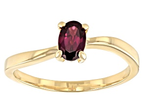 Grape Color Garnet 10k Yellow gold Ring 0.48ctw