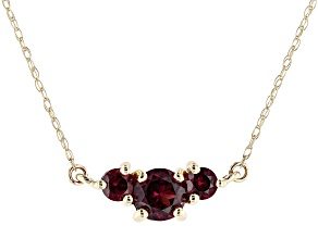 Purple Garnet 10k Yellow Gold Necklace 0.79ctw