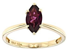 Grape Color Garnet 10k Yellow Gold Ring 0.92ctw