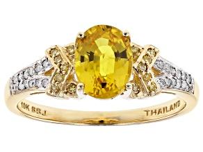 Yellow Sapphire 10k Yellow Gold Ring 1.76ctw