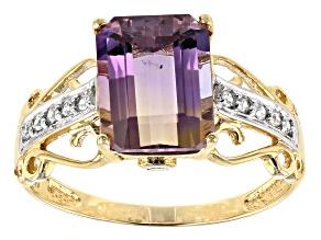 Bi-Color Ametrine 10k Yellow Gold Ring 2.91ctw