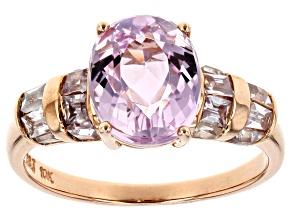 Pink Kunzite 10k Rose Gold Ring 3.94ctw