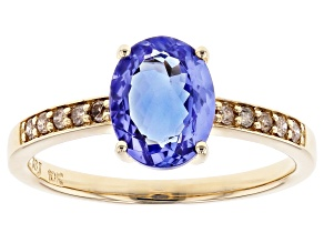 Blue Tanzanite 10k Yellow Gold Ring 1.82ctw