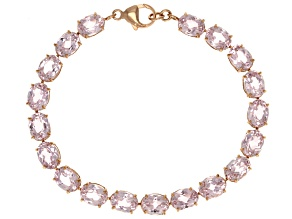 Pink Kunzite 10k Rose Gold Tennis Bracelet 29.25ctw.