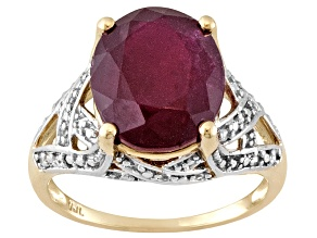 Mahaleo Ruby 10k Yellow Gold Ring 4.63ctw.