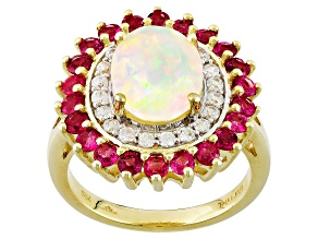 Ethiopian Opal 10k Yellow Gold Ring 2.53ctw.