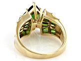 Green Chrome Diopside 10k Yellow Gold Ring 2.63ctw