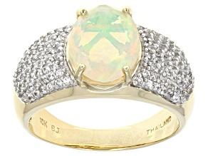 Ethiopian Opal 10k Yellow Gold Ring 1.87ctw