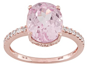 Pink Kunzite 10k Rose Gold Ring 4.93ctw