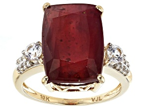 Mahaleo Ruby 10k Yellow Gold Ring 9.38ctw