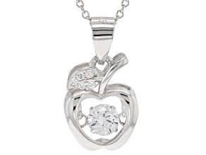 Bella Luce®.90ctw White Cubic Zirconia Rhodium Over Sterling