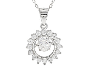 Bella Luce®1.31ctw White Cubic Zirconia Rhodium Over Sterling