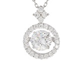 Bella Luce®2.53ctw White Cubic Zirconia Rhodium Over Sterling