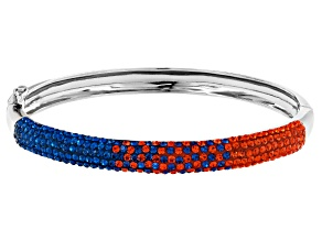 Preciosa Crystal Blue And Orange Crystal Bangle Bracelet