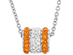 Preciosa Crystal Orange And White Charm Pendant