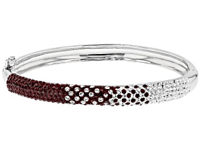 Preciosa Crystal Maroon And White Bangle Bracelet