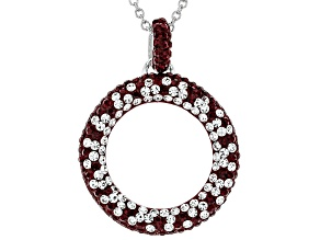 Preciosa Crystal Maroon And White Circle Necklace
