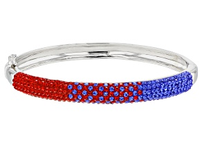 Preciosa Crystal Red And Blue Bangle Bracelet