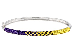 Preciosa Crystal Purple And Gold Thin Bangle Bracelet