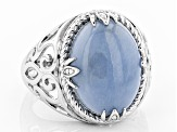 Blue angelite sterling silver ring
