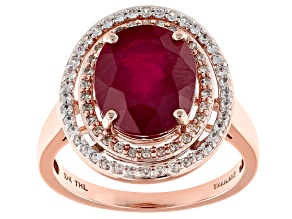 Mahaleo Ruby 10k Rose Gold Ring 4.87ctw