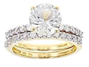 White Danburite 10k Gold Ring Set 2.36ctw