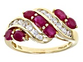 Red Burmese Ruby 14k Yellow Gold Ring 2.01ctw