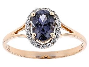 Purple Spinel 10k Rose Gold Ring .72ctw